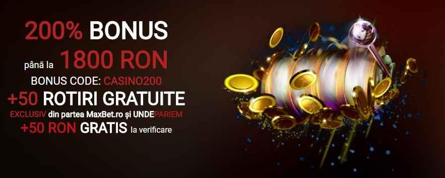 Maxbet bonus gratis 1800 ron cod promotional cu rotiri gratuite datorita undepariem